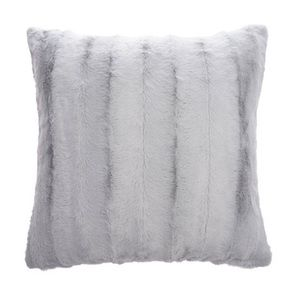 "LUXE FAUX FUR PILLOW COVER MIST 18"" X 18"""